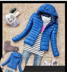 Новые стильные женские куртки стёганые в наличии два размера