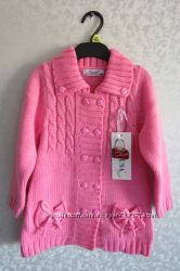 Красивое вязаное платье-туника  ТМ  LUSA на девочку 3-4 лет