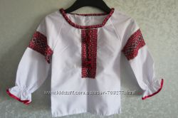 Рубашка-вышиванка на девочку, рост 98