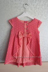 Нарядная летняя туника-платье на девочку, 30 размер