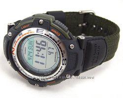 Оригинал, новые Мужские часы Casio SGW100B-3V Компас, Термометр
