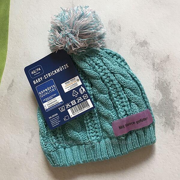 Зимняя термо шапка на флисе 62/74 Lupilu.