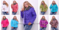 Яркие и стильные зимние куртки для полных женщин
