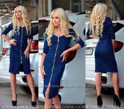 Джинсовое платье пошив под заказ от 42 до 60 размера