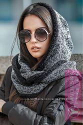 Теплый шарф-хомут снуд