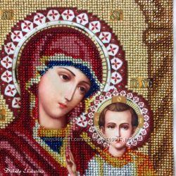 Икона казанская божья матерь вышита бисером