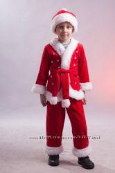 Прокат детских новогодних костюмов Деда Мороза Снегурочки Санта Клауса