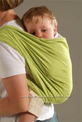 слинг шарф лён серо-зеленый жаккард
