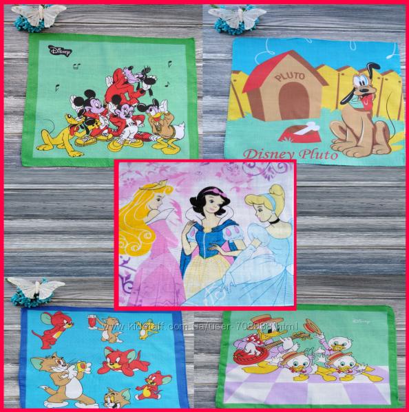 Платок носовой с героями мультфильмов салфетка носовик