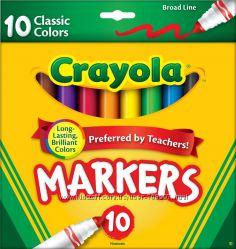 Классические Маркеры Crayola Крайола 10 шт.