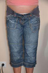 капри джинсовые для животика