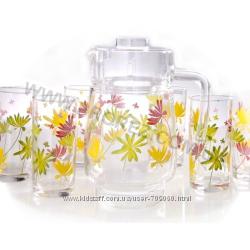 Комплект Luminarc POP FLOWERS ORANGE для напитков  7 предметов