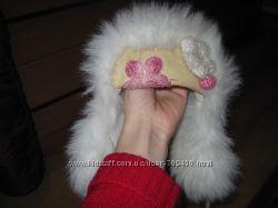 зимняя шапка-ушанка на девочку 48 размер