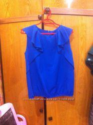 блузка синего цвета размер С