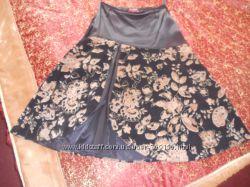 юбка цветочний принт
