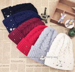 Очень теплые, стильные шапочки