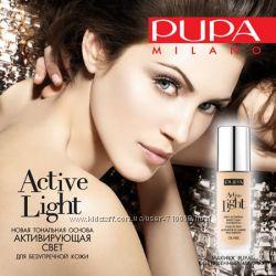 Pupa Active Light SPF10 Тональный крем для лица с эффектом естественного си