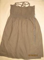 Простеньке плаття JENNIFER болотяного кольору розміром S