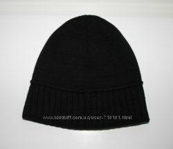 шапка мужская двойная для ОГ 56-62см чёрная и тёмно-серая