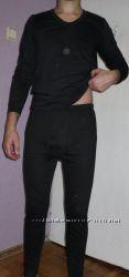 бельё мужское действительно100хлопок на натуральной байке чёрное
