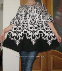 Туника LADIES black & white DRESS