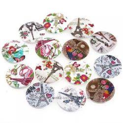 Декоративные пуговицы бабочка сердечко сова цветок младенец париж
