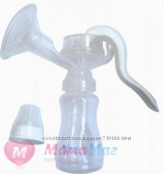 Молокоотсос механический Lindo c бутылочкой для кормления