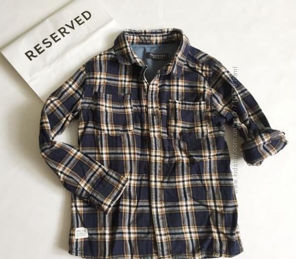 Рубашка теплая в клетку на 4-5 лет