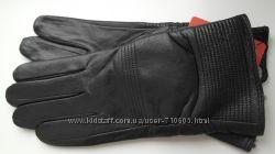 Перчатки женские кожаные черные, разные модели