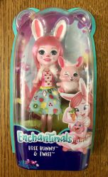 Кукла Enchantimals Кроля Бри и кролик Твист обновлённая FXM73