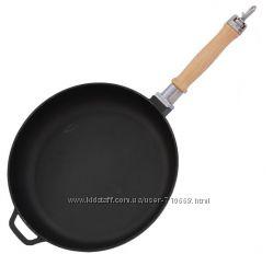 Сковорода чугунная со съёмной ручкой 220мм , , Оптима, ,