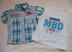Комплект рубашка и майка на мальчика
