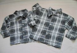 Фланелевые рубашки для мальчика до года