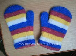 Варежки и перчатки на 1-2 года