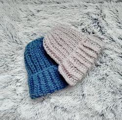 Вязаные шапки из толстой пряжи