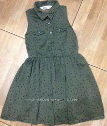 Платье H&M 110 см  4-5 лет Блуза Next рост 116 см, 6 лет.
