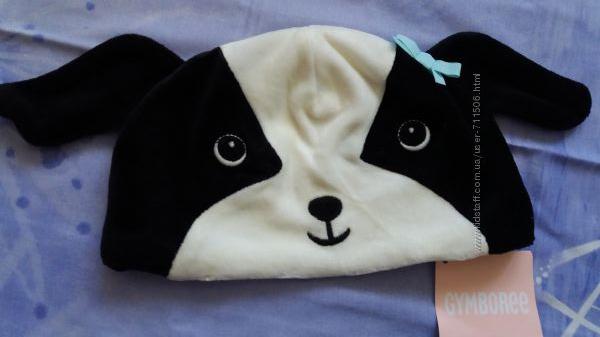 Велюровая шапка Gymboree на девочку 3-6 мес.