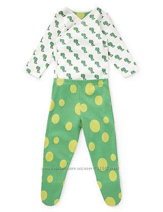 Фирменный комплект мальчику 3-6мес Crocodile Bodysuit & Crawlers Outfit