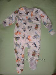 Флисовый человечек Carters 24 мес теплый слип пижама