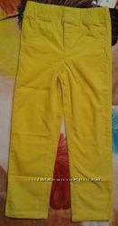 Джеггинсы Carters желтый вельвет рост 114-122см