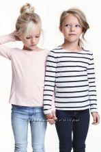 Реглан H&M для девочки 4-6, 8-10 лет органический хлопок гольф гольфик