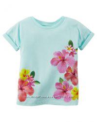 комплект Картерс футболка лосины Carters для девочки 4г цветочный принт