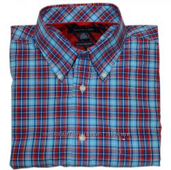 мужская рубашка Tommy Hilfiger, короткий рукав, размер L