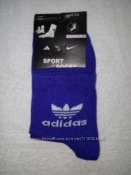 женские носки Adidas 23-25 р. синие и белые.