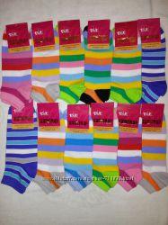 Женские короткие  носки Талько Житомир. 35-41 р. средняя полоска.