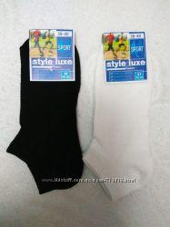женские короткие носки-патик в сетку белые. черные 37-40 р.