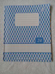 Тетрадь фоновая 24 листа Перлина в клетку. в наличии