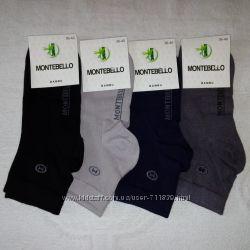 Стрейчевые женские носки Монтебелло 35-38 р. Турция. 4 пары. асорти