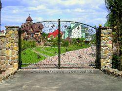 Кованные изделия - заборы, ворота. решетки, козырьки