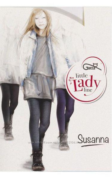 Меланжевые колготки на девочку GATTA Susanna рост 128-134см